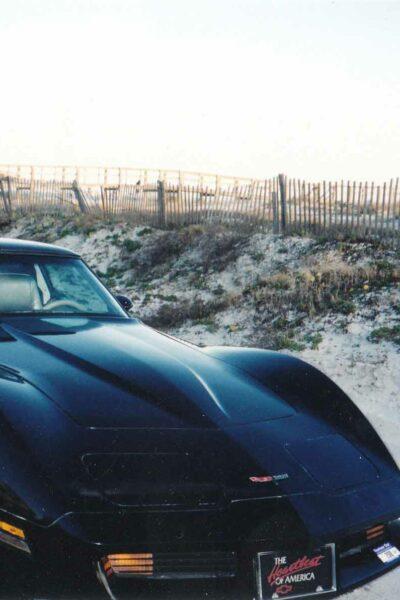 black 1981 Corvette