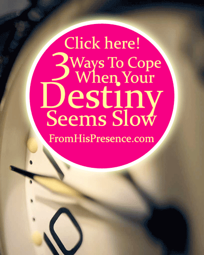 3 Ways To Cope When Your Destiny Seems Slow by Jamie Rohrbaugh | FromHisPresence.com Blog