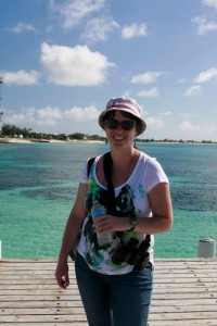 "Me in Grand Turk during our cruise to the ""Saints,"" February 2013."