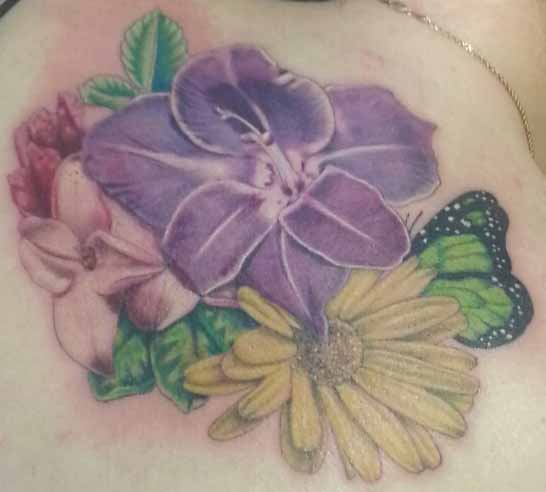 Miss T back tattoo