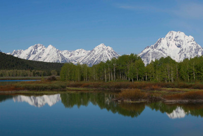 Oxbow Bend, Grand Teton National Park in June