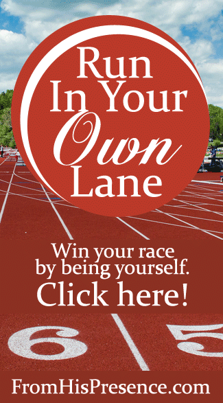 Run In Your Own Lane by Jamie Rohrbaugh | FromHisPresence.com blog