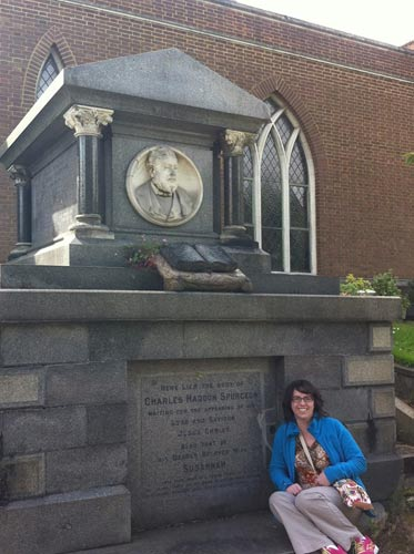 Me visiting Charles Spurgeon's grave, June 2014