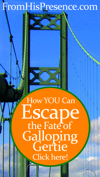 How You Can Escape the Fate of Galloping Gertie by Jamie Rohrbaugh | FromHisPresence.com Blog