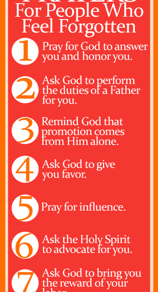 Bookmark of 7 Life-Changing Prayers For People Who Feel Forgotten by Jamie Rohrbaugh | FromHisPresence.com