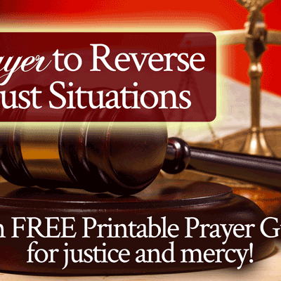 Prayer to Reverse Unjust Situations with Free Printable Prayer Guide for Justice and Mercy | by Jamie Rohrbaugh | FromHisPresence.com