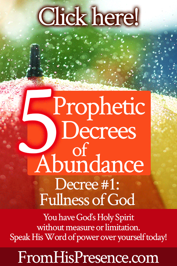 Prophetic Decrees of Abundance | Decree #1 Fullness of God | by Jamie Rohrbaugh | FromHisPresence.com | Prayer and declaration to know more of God and be filled with His Spirit