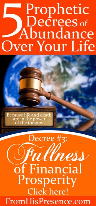 Prophetic Decree #3: Fullness of Financial Prosperity