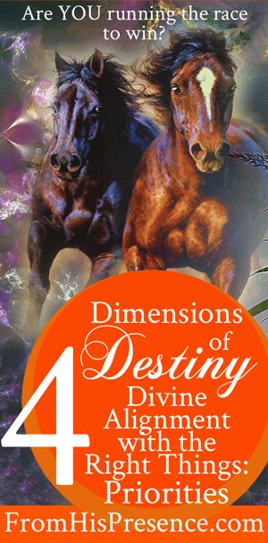 Dimensions of Destiny: Divine Alignment with the Right Things: Priorities | by Jamie Rohrbaugh | FromHisPresence.com