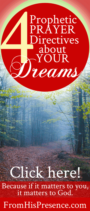 4 Prophetic Prayer Directives about Your Dreams   by Jamie Rohrbaugh   FromHisPresence.com