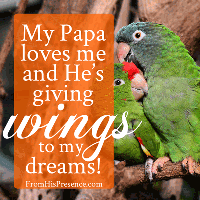 God is giving wings to your dreams!