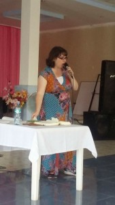 Preaching about the love of Abba Father at a women's conference where many received ministry for father wounds.