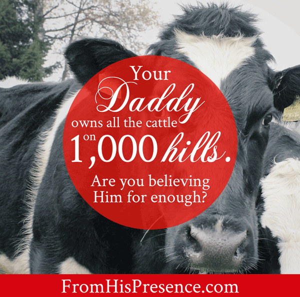 Your Daddy Owns All the Cattle On a Thousand Hills | Read this encouraging word about God's provision!