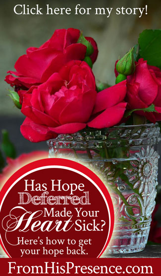 Has Hope Deferred Made Your Heart Sick? Here's how to get your hope back. | by Jamie Rohrbaugh | FromHisPresence.com