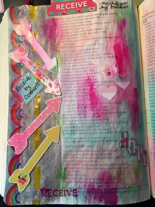Bible journaling by Jamie Rohrbaugh | A Heart that Receives Illustrated Faith April 2017 DaySpring devotional kit