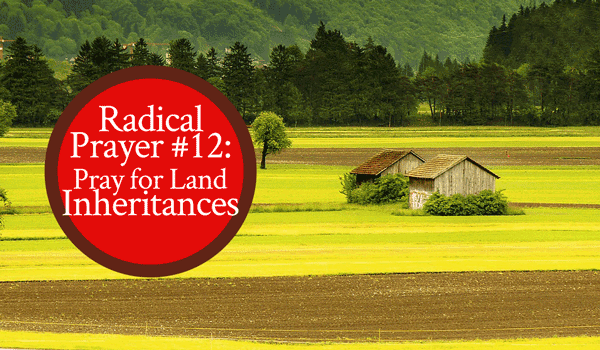 Prophetic Word: Pray for Land Inheritances - From His Presence®