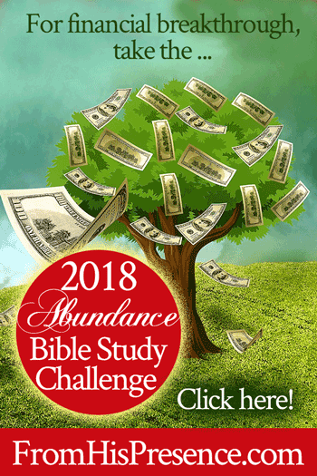Take the 2018 Abundance Bible Study Challenge for Financial Breakthrough! | by Jamie Rohrbaugh | FromHisPresence.com