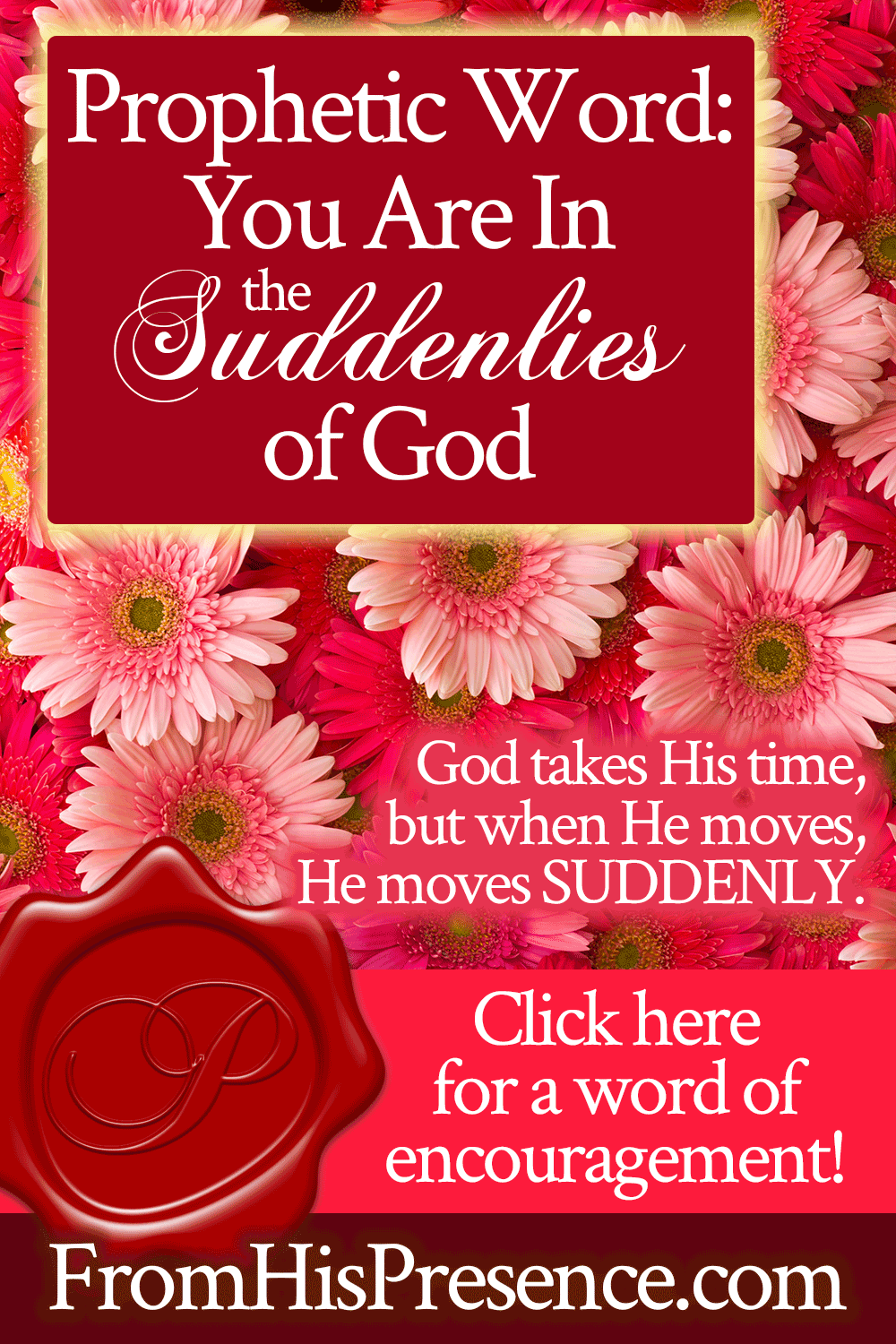 Prophetic Word: You Are In the Suddenlies of God   by Jamie Rohrbaugh   FromHisPresence.com