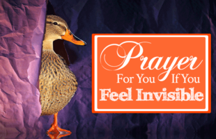 Prayer for You If You Feel Invisible   by Jamie Rohrbaugh   FromHisPresence.com