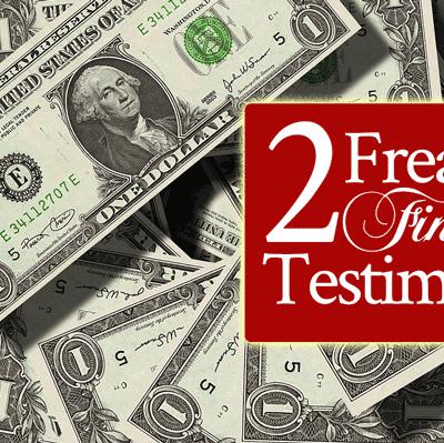 2 Freaky Financial Testimonies | by Jamie Rohrbaugh | FromHisPresence.com