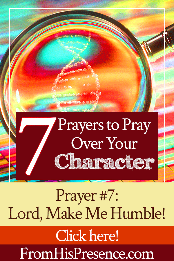 7 Prayers to Pray Over Your Character | Prayer 7 | Lord, Make Me Humble | by Jamie Rohrbaugh | FromHisPresence.com