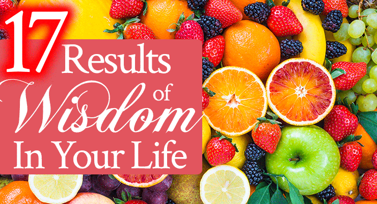 17 Results of Wisdom In Your Life   by Jamie Rohrbaugh   FromHisPresence.com