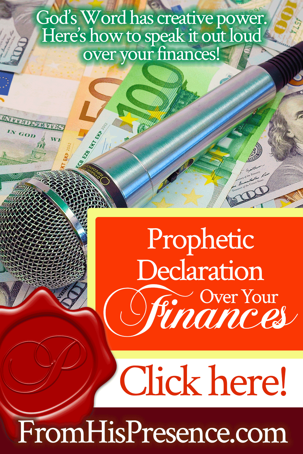 Prophetic Declaration Over Your Finances | by Jamie Rohrbaugh | FromHisPresence.com