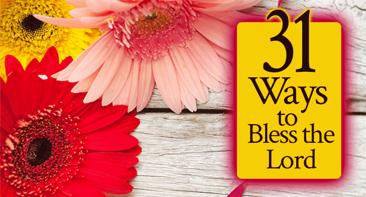 31 Ways to Bless the Lord   by Jamie Rohrbaugh   FromHisPresence.com